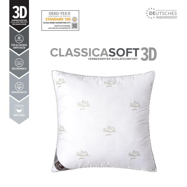 DREI-KAMMERKISSEN Classica Soft 3D 80x80 SWAN
