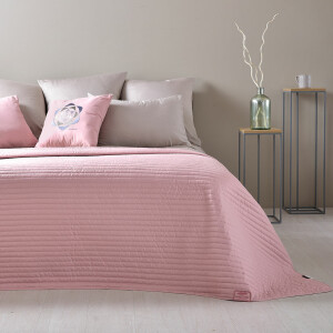 Wende-Tagesdecke Living Trend 240x220 Rose Smoke
