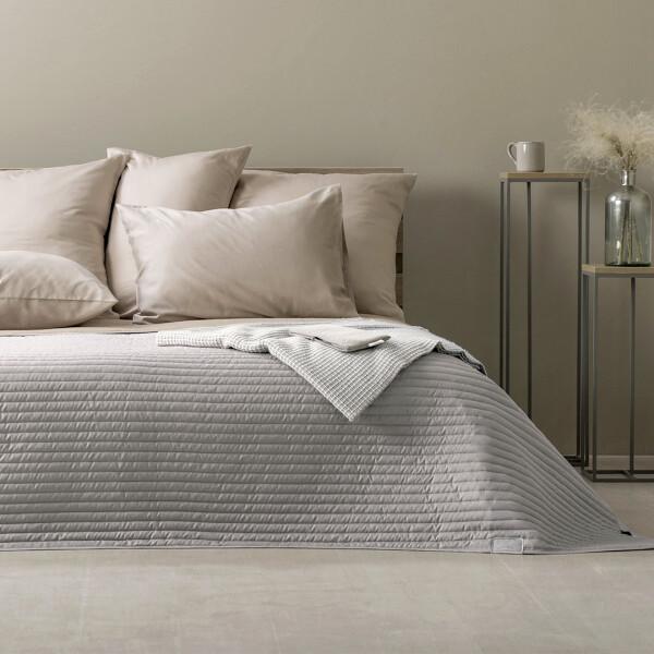 Rose Smoke Sei Design ® Luxus Tagesdecke Living Trend Wendedecke gesteppt