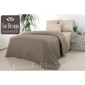 Luxus Tagesdecke Royal Ambience, 240x260, taupe/nude