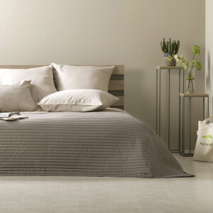 Luxus Tagesdecke Living Trend 240x260 Taupe