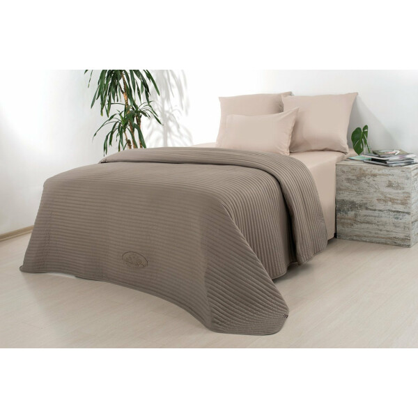 Luxus Tagesdecke Royal Ambience, 220x240, taupe/nude