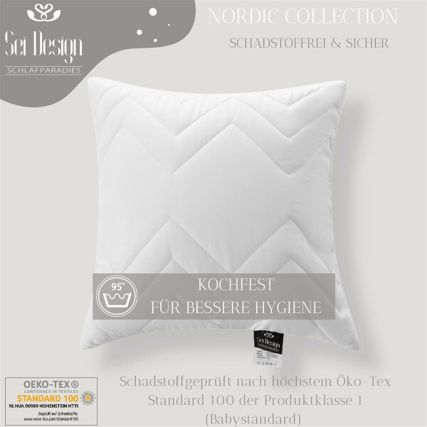 4-er Pack Kopfkissen  Classic Dream Collection 40x40 gestept Cube